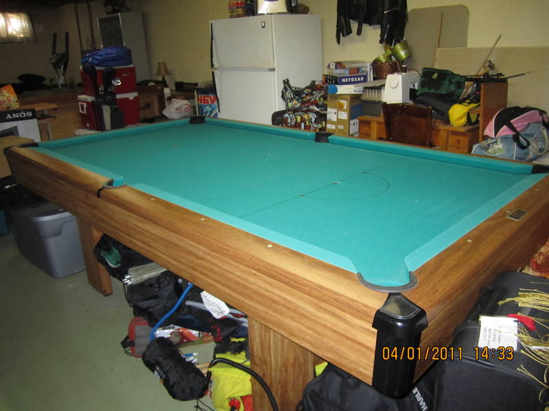 non slate pool table plans