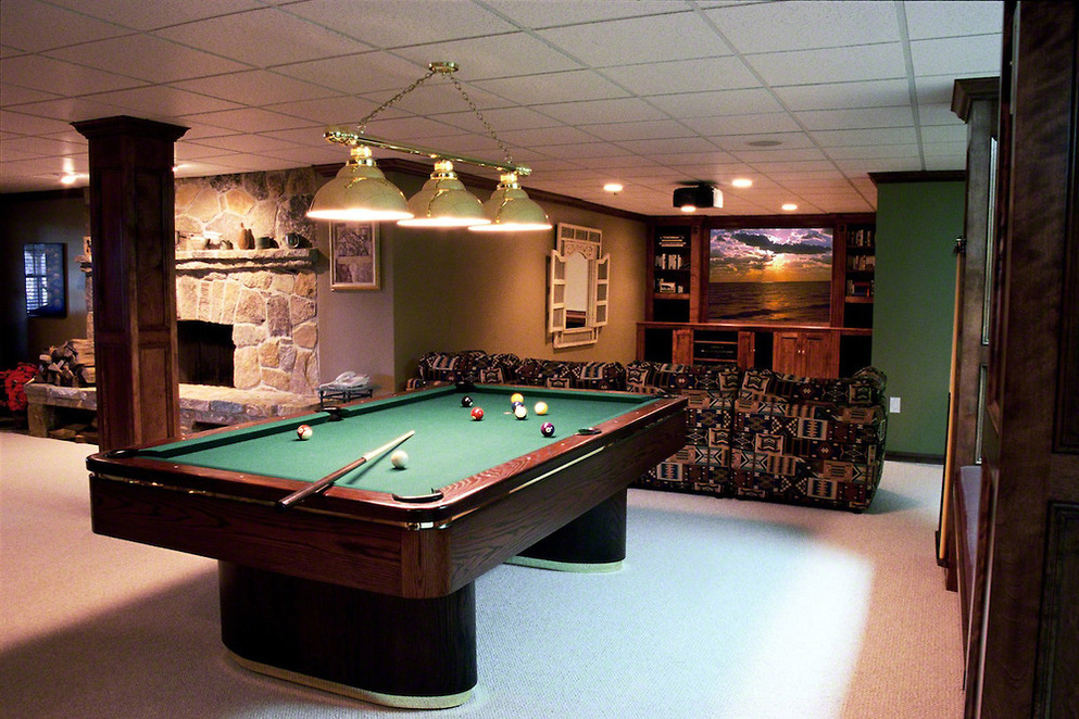Pool Table Near Poles or Beams
